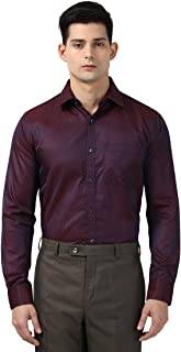 Next Look Men Solid Maroon Coloured Cotton Shirts