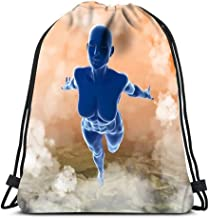Backpack Sports Gym Bag Slim Attractive Sportswoman Flying In The Air Full Of Clouds Over Earth Fantasy Fairy For Women Men Children Large Size