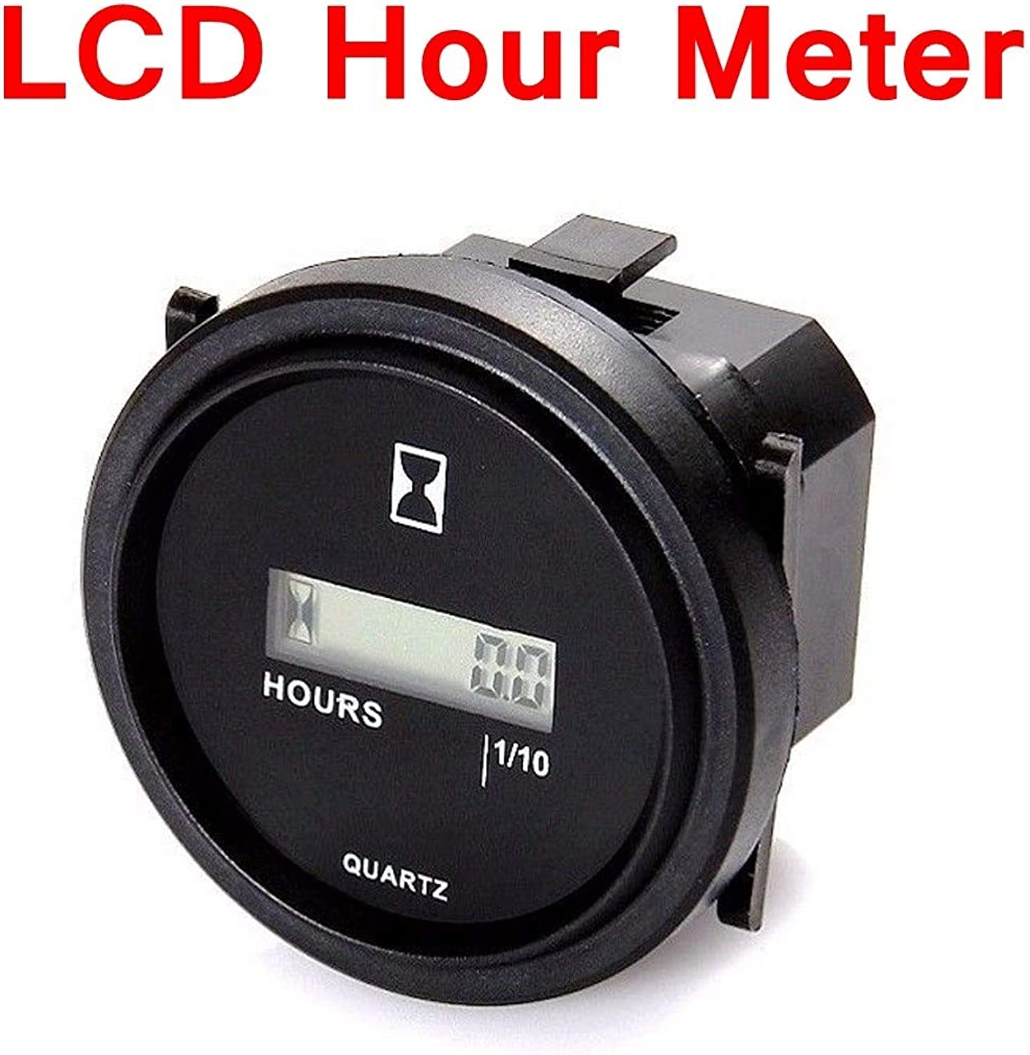 Gift4Car  12 24 36V 2 inch Digital LCD Display Hour Meter CE Gauge for Marine Boat Engine Tractor Generator