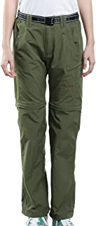 Women's Outdoor Quick Dry Convertible Lightweight Hiking Fishing Saturday Trail Zip Off Cargo Work Pant