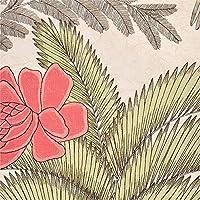 壁紙屋本舗 壁紙サンプル ボタニカル柄 ベージュ 植物 鳥 花 SBB-1749