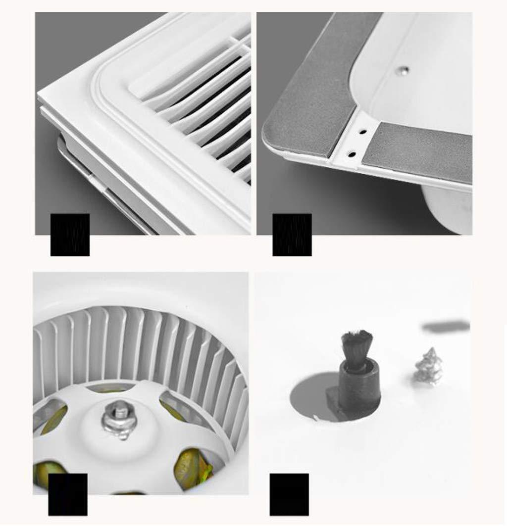 QIN Control Remoto Ventilador de calefacción de la lámpara de luz en Color Multifuncional baño de Techo Indicación de Temperatura, Libre de cableado de iluminación PTC Calentador de cerámica: Amazon.es: Hogar