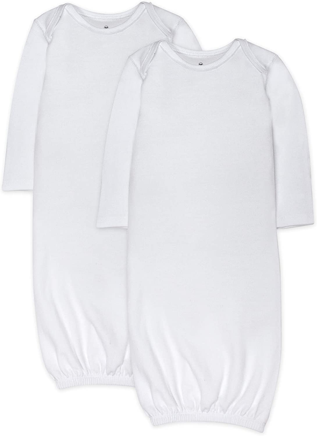HonestBaby Baby 2-Pack Organic Cotton Sleeper Gowns