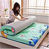 ZQW Colchón Plegable del Piso del futón, Colchón de Suelo de Tatami for Dormir for niños Plegable japonés futón...