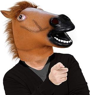 Waylike Horse Mask Horse Head BoJack Horseman Halloween Mask Rubber Animal Mask for Horse Costume
