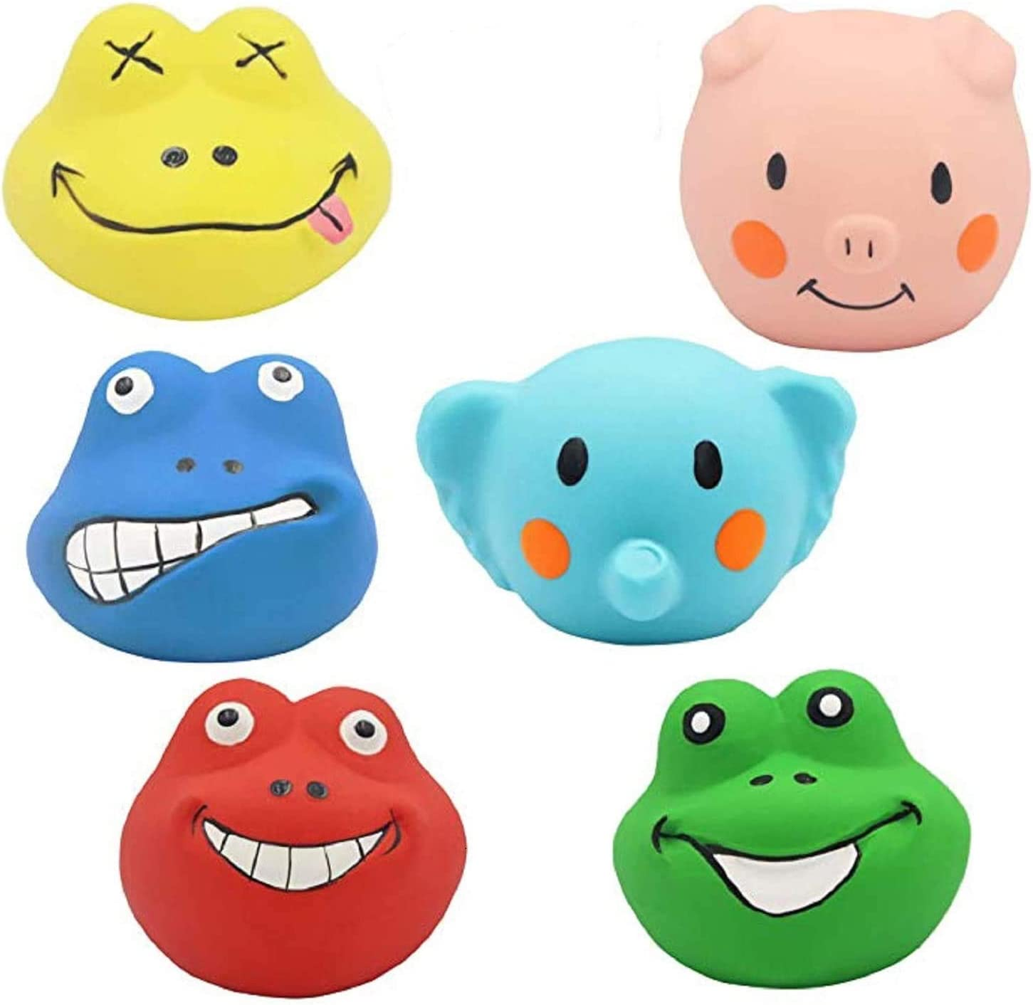 Squeaky Dog Toys 6 Pack Fashionable Soft Funny Anima Toy Teeth Puppy Boston Mall Rubber