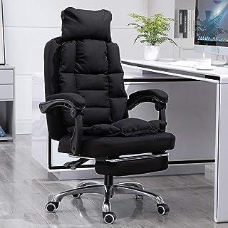 Chaise d'ordinateur en tissu de chaise de jeu MHIBAX, inclinable paresseux simple et moderne à la maison, dossier de burea...