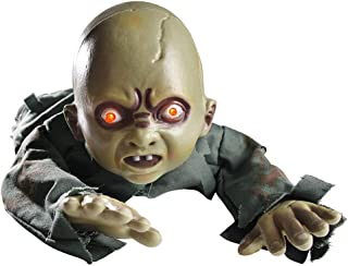 Yescom Animated Crawling Zombie Scary Ghost Baby Doll Halloween Haunted House Decor Sound Sensor Flashing Eyes