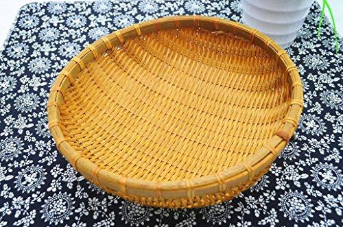 Paniers faits à la main Panier en bambou/Panier tissé en bambou, corbeille de fruits fruits légumes fruits pain bambou panier28 cm -45cm (Couleur : #2, taille : 32cm)