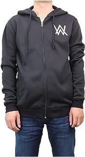 Unisex Hoodie Jacket Fleece Coat Adult Sweatshirt Zip-Up with Front Pocket Costume (Black,S)