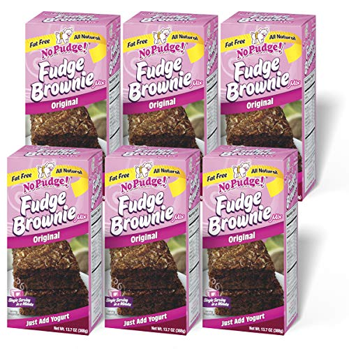 No Pudge Fat Free Fudge Brownie Mix Original 137Ounce Boxes Pack of 6