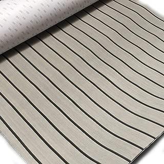 Cozyel EVA Faux Teak Decking Sheet for Boat Yacht Non-Slip and Self-Adhesive Boat Flooring Pad 94.5