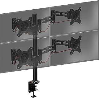 Duronic DM354 Soporte para 4 Monitores con Brazo de Escritorio Ajustable y Articulado para 4 Pantallas 13
