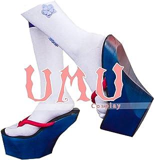【UMU】 陰陽師 雪女 覚醒 月見の桜 超還元 風 コスプレ靴/ブーツ (23cm)