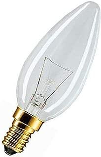 Lot de 10 ampoules mates en forme de 60 watts /à incandescence mat e14 windsto/ßkerze