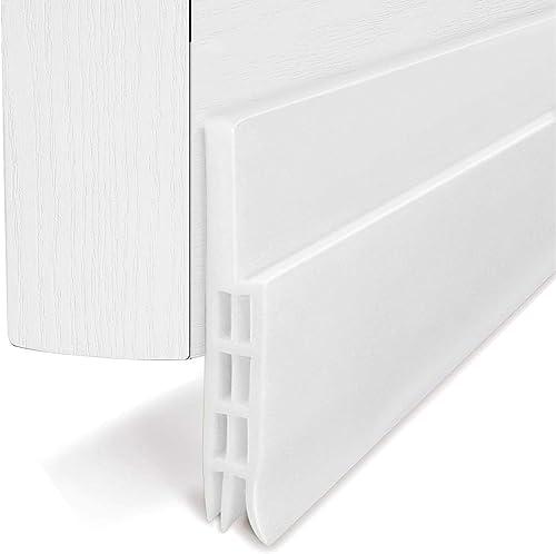 BAINING Door Draft Stopper Door Sweep for Exterior/Interior Doors Weatherproofing Door Seal Strip Under Door Draft Bl...