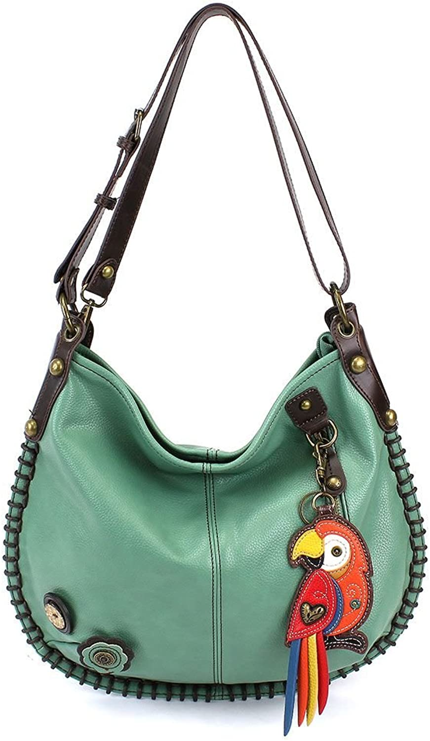 Chala Charming Hobo Crossbody Red Parred  Teal