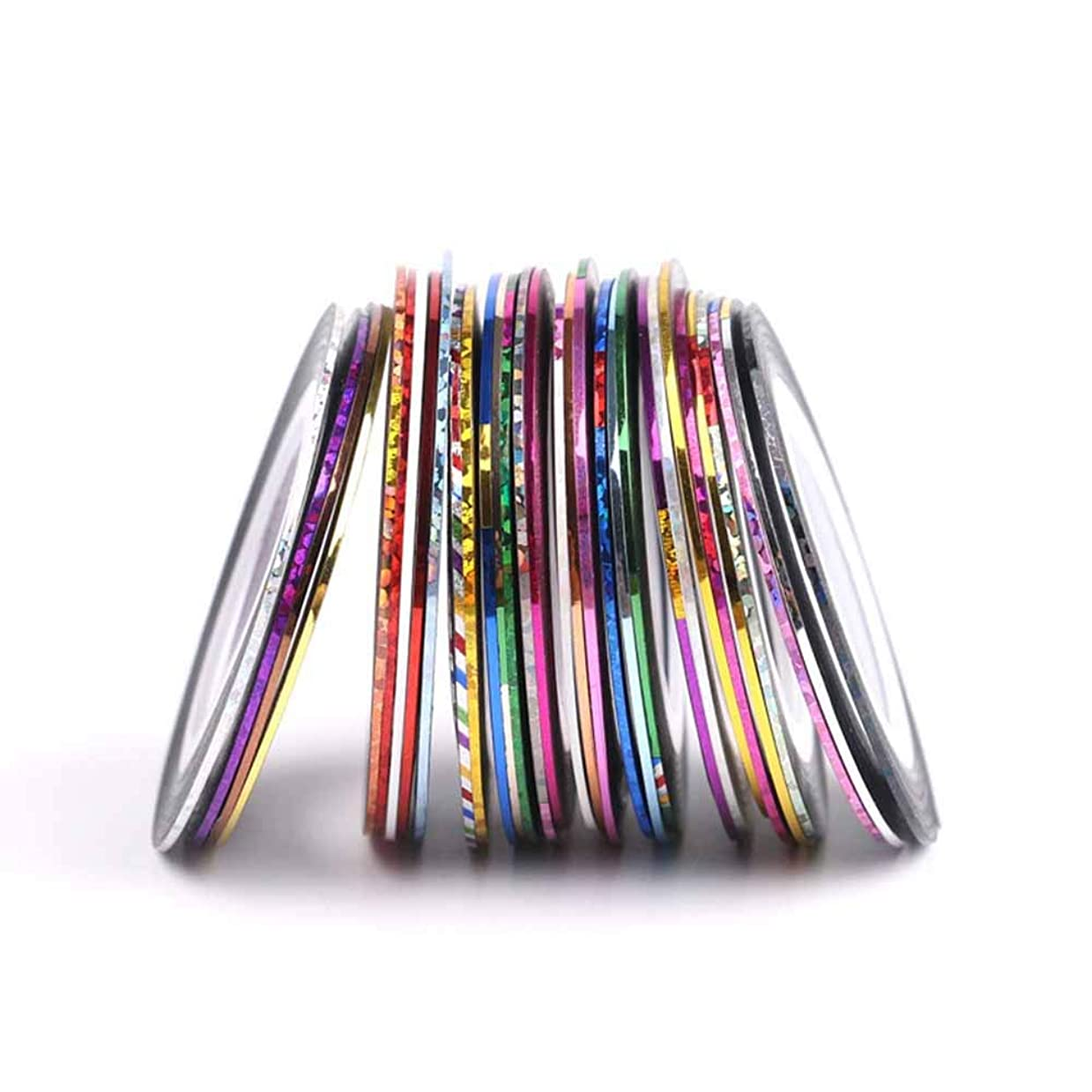 機械的観点卵OSOGODE(オソグド) ネイルアート用 ラインテープ 30色セット マニキュア ネイルアートツール ラインアートテープ ネイルケアセット