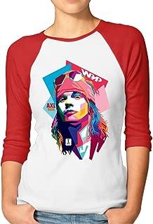 Guns N' Roses AXL Women Personalized Tops Plain Raglan Shirts
