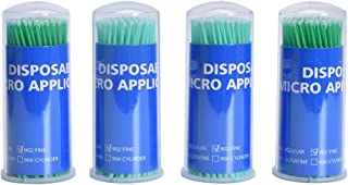 Annhua 400PCS Dental Disposable Applicator, 902 | Fine Size Micro Bendable Brush with Green Stick