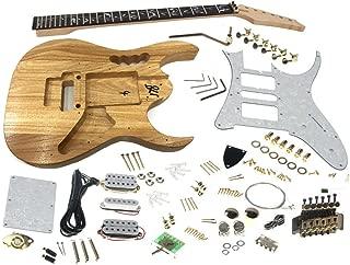 Solo Jem Style DIY Guitar Kit, Basswood Body, Hard Maple Neck Vine Inlay, JEK-10