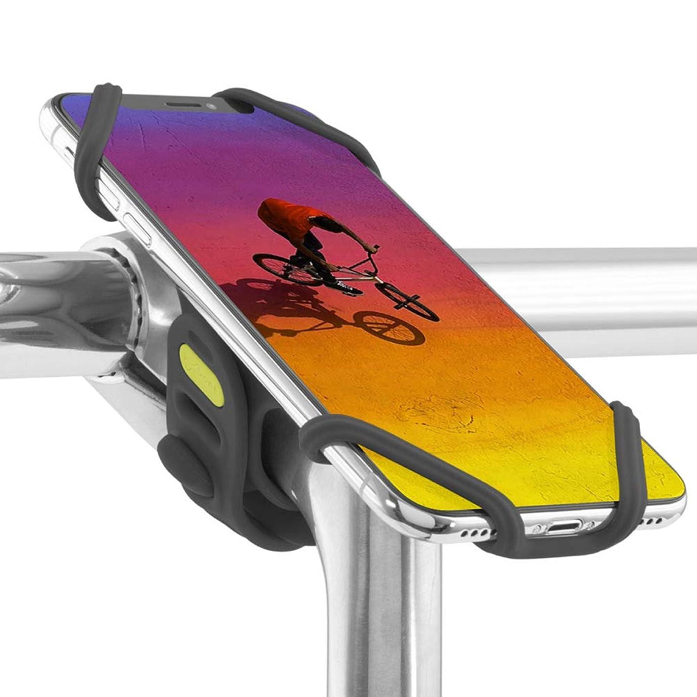 盲信フォームスカートBone 自転車 スマホ ホルダー 携帯ホルダー ステム用 超軽量 全シリコン製 脱着簡単 脱落防止 4-6.5インチのスマホに対応 iPhone XS Max XR X 8 7 6S Plus Xperia ZX3 Galaxy S10 S9 S8 note 9 Pixel 3 XL TorqueG03 / Bike Tie Pro 2 縦型 ブラック
