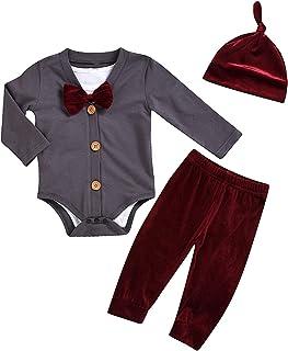 Conjunto de 5 Piezas de Ropa para bebé, Pantalones de chándal, Abrigo, Pajarita, Sombrero, Ropa de Moda para 0-24 Meses
