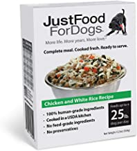 JustFoodForDogs PantryFresh Dog Food - Fresh, Whole Food Ingredients Ready to Serve Adult Dog & Puppy Food