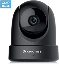 Amcrest 4MP UltraHD Indoor WiFi Camera, Security IP Camera with Pan/Tilt, Two-Way Audio, Night Vision, Remote Viewing, Dua...