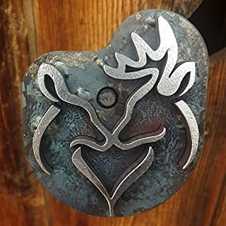 Buck & Doe Heart Branding Iron- Stamp - The Heritage Forge