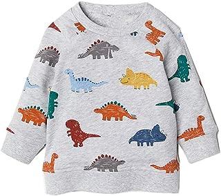 Boys Dinosaur Sweatshirts Toddler Long Sleeve T-Shirts Pullover Cartoon Tee Sport Tops for Kids 1-7T