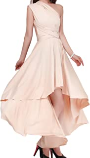 Women's Convertible Multi Way Evening Dress Transformer/Wrap Cocktail Homecoming Hi-Lo Maxi Gown