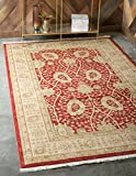 Unique Loom Edinburgh Collection Oriental Traditional French Country Red Area Rug (12' 2 x 16' 0)