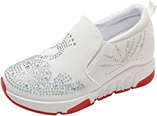 0259bdbe62033 Femme Baskets Mode Strass Chaussures de Sports Marche Running Chaussures à  Plateforme
