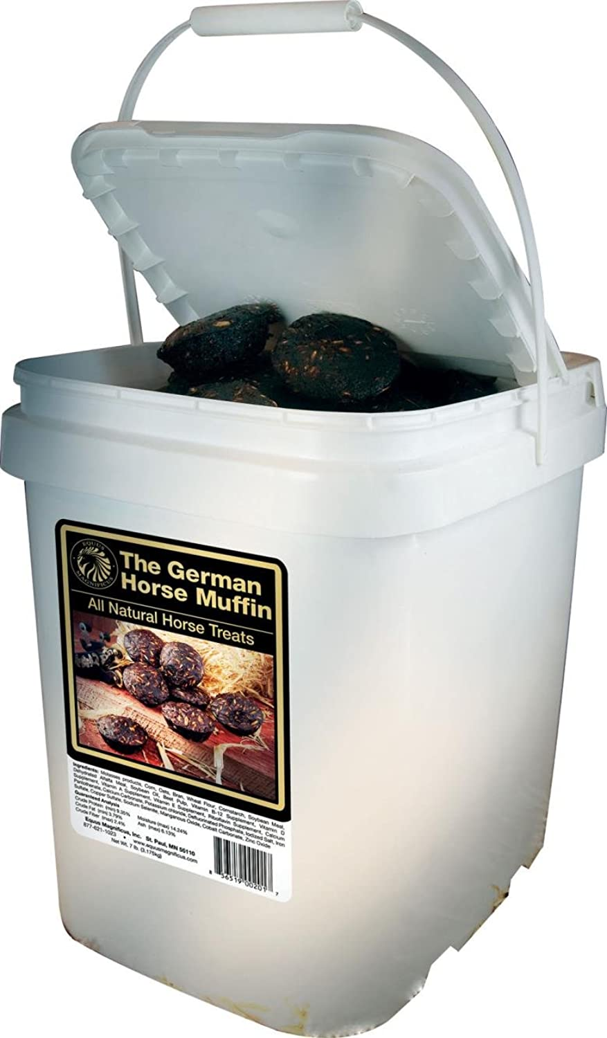 DPD The German Horse Muffin All Natural Horse Treats  7 Pound Bucket