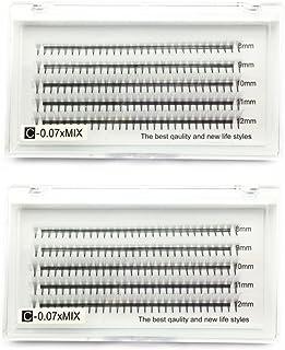 2 laden 3D-volume wimpers C krul 0,07 mm gemengd 8-12 mm Russische cluster valse wimperextensions EMEDA 6D wimperverlengin...