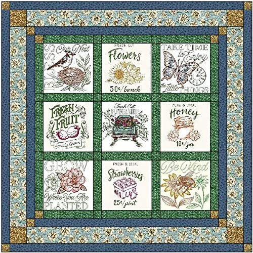 Quilt Kit Farmer's Direct stock discount Market Springtime Pre Finish Cut Sew to Ready excellence