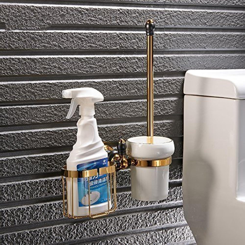 Full of The Black gold Copper Multifunction Toilet Toilet Brush Bathroom, Toilet, Rack Hardware Rack Shelf WC Brush