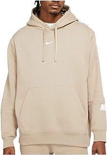 Nike NSW Repeat - Felpa con Cappuccio, Taglia XS, Colore: Beige