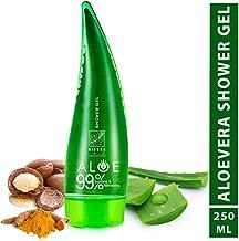 Rivona Naturals Aloe Vera 99% Soothing & Refreshing Shower Gel for Whitening, Moisturizing, Deep Cleansing - 250 ml