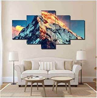 IGZAKER Home Decor Living Room Modular Canvas Painting 5 Panel Mount Everest Landscape Wall Art Poster Modern—30x40 30x60 30x80cm(No Frame)