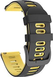 ISABAKE 22 mm miękki silikonowy pasek do zegarka Garmin Vivoactive 3/Samsung Galaxy Active 2/Garmin Forerunner 245/245 Mus...