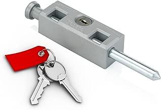 TOLEDO Sliding Door Patio Lock TDP02S Silver Finish - Works With Aluminum, Steel, Wood Or PVC Swinging Or Sliding Doors