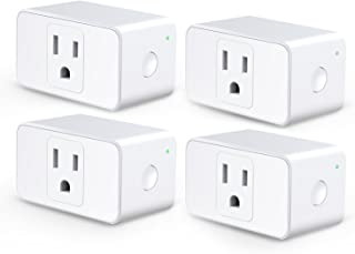 Meross WiFi Smart Plug Mini, Alexa and Google Voice Control, App Remote Control, Timer, Occupies Only One Socket, No Hub N...