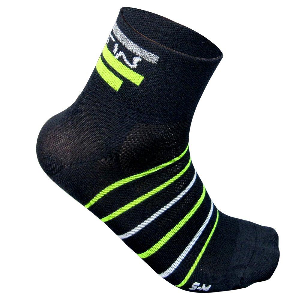ELTIN Supplex Herrensocken XL Schwarz/Neongelb
