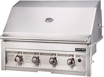 SUNSTONE SUN4B-NG 4-Burner 34-Inch Natural Gas Grill,Stainless Steel