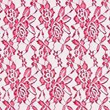 Fabulous Fabrics Spitze pink, Blume, 150cm breit –