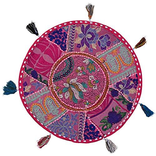Stylo Culture Decorativo Indio Bohemio Redondo Cojines De Suelo Niños Patchwork...