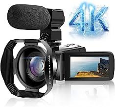 Camcorder Video Camera 4K Ultra HD 30FPS 48.0MP WiFi IR...