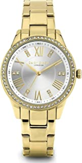 Daisy Dixon Lily Women's Analogue Quartz Watch with Satin White Dial and Gold Plated Stainless Steel Bracelet - D106GM